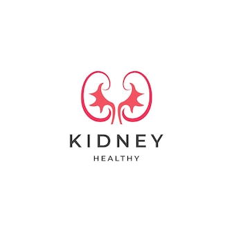 Nerki opieki zdrowotnej logo medyczne ikona projektowania szablonu płaskie wektor ilustracja