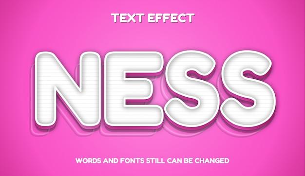 Ness nowoczesny edytowalny efekt tekstowy