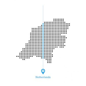 Netherland zapowiedział mapę desgin wektor