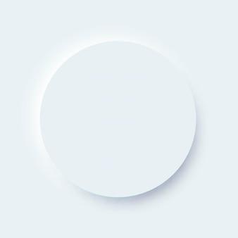 Neumorficzny element okręgu ui dla aplikacji mobilnej i interfejsu strony internetowej