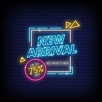 New arrival neon sign