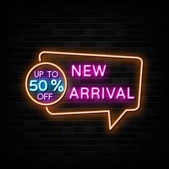 New arrival neon signs design template neon style