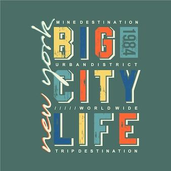 New york big city life typografia projekt graficzny