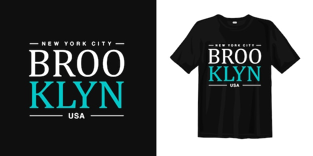 New york city, brooklyn usa t shirt design typografia miejskiego stylu