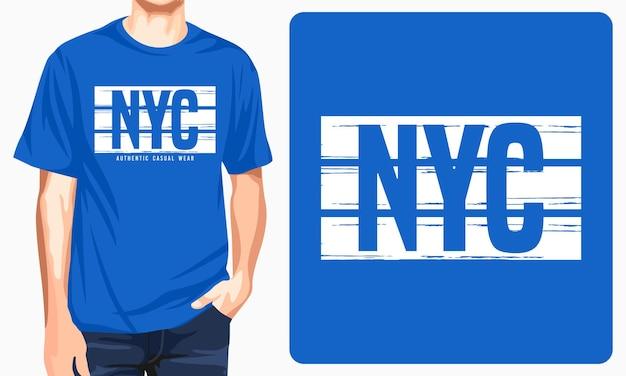 New york city - koszulka z grafiką do nadruku