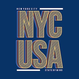 New york city linii artystycznej grafiki t shirt