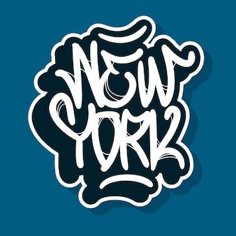 New york city nyc usa design ręcznie rysowane napis