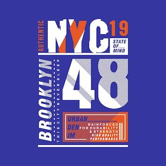 New york element typografii urban t shirt design