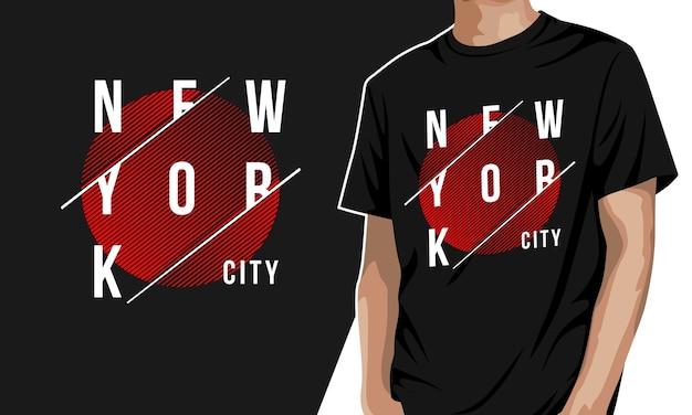 New york - koszulka z grafiką