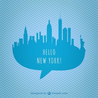 New york skyline grafiki wektorowej
