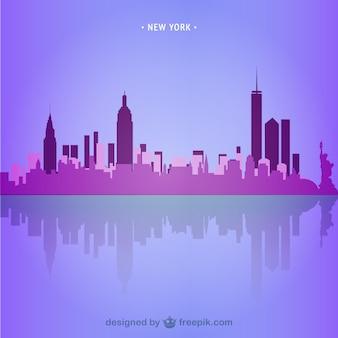 New york skyline ilustracji