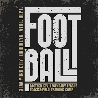 New york sport typografia znaczek piłka nożna athletic dept tshirt znaczek grafika vintage print