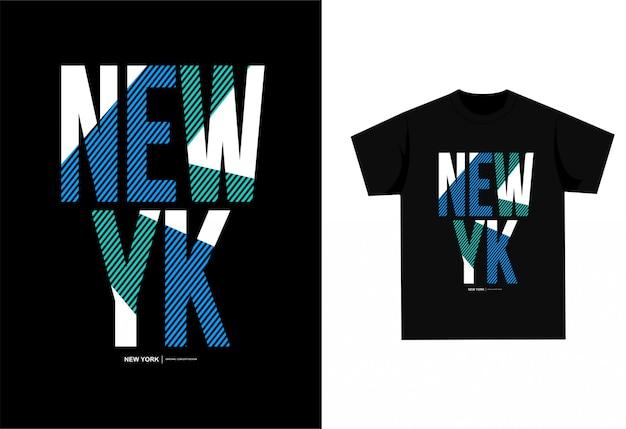 New york - t-shirt graficzny do nadruku