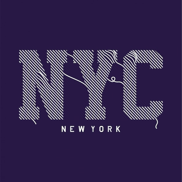 New york - t-shirt z grafiką