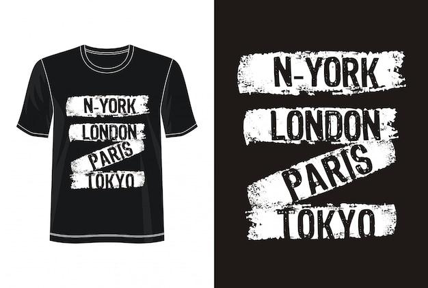New york typografia do koszulki z nadrukiem