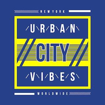 New york urban city typografia t shirt design