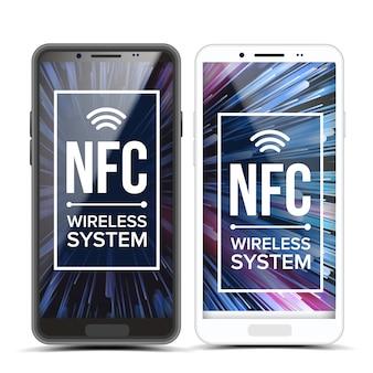Nfc. dotknij, aby zapłacić technologię nfc. tłumaczenie płatności za telefon bezprzewodowy