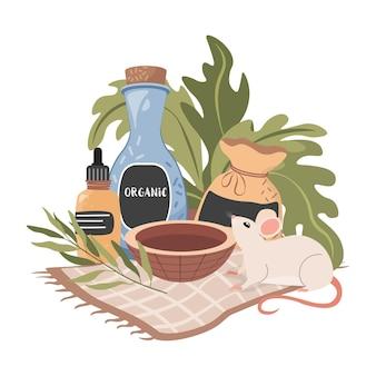 Nie testowany na naturalnych organicznych kosmetykach pochodzenia zwierzęcego