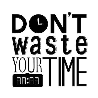 Nie trać czasu na cytat z typografii