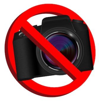 Nie znaki zakazu kamery na białym tle