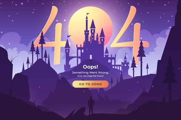 Nie znaleziono strony błędu 404. koncepcja ilustracji fantasy dla interfejsu użytkownika sieci web