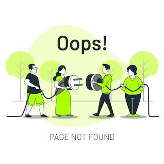 Nie znaleziono strony z ludźmi łączącymi ilustrację koncepcji wtyczki