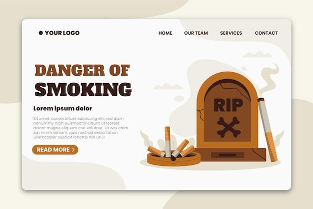 Niebezpieczeństwo palenia - strona docelowa