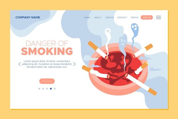 Niebezpieczeństwo palenia szablonu strony docelowej