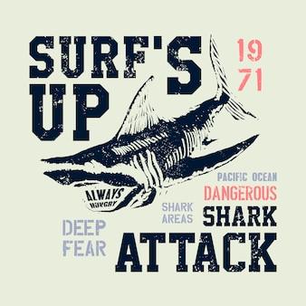 Niebezpieczna rekin ilustracja z literówką