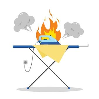 Niebezpieczna sytuacja z żelaznym ogniem