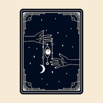 Niebiańskie magiczne karty tarota ezoteryczne okultystyczne duchowe czytniki czary magiczne kryształowe ręce oko!