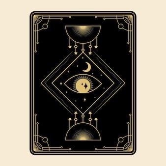 Niebiańskie magiczne karty tarota zestaw ezoteryczny okultystyczny duchowy czytnik czary magiczne oko boga