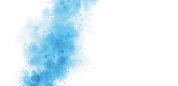 Niebieska akwarela na białym tle ilustracji wektorowych