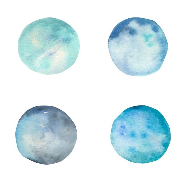 Niebieska bejca akwarela z praniem. akwarela morze tekstury.