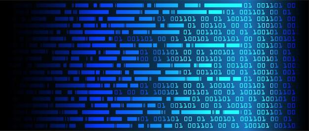 Niebieska binarna technologia cybernetyczna