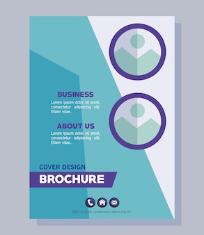 Niebieska broszura firmowa