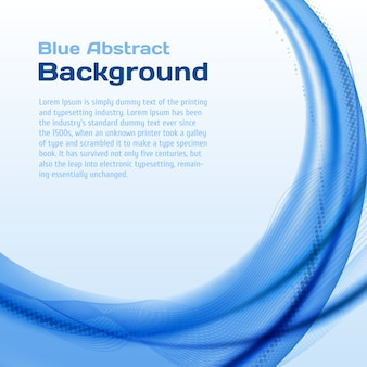 Niebieska fala tło z półtonów