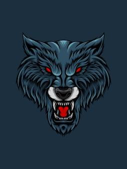 Niebieska głowa wilka