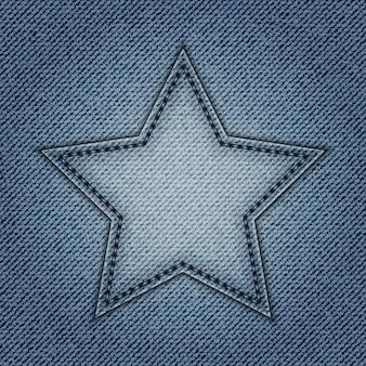 Niebieska gwiazda jeansów