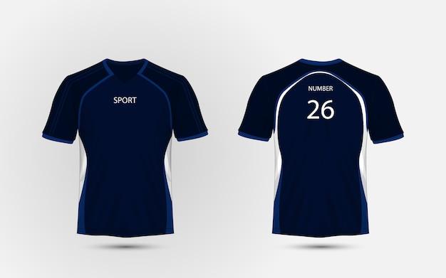 Niebieska I Biała Koszulka Sportowa Układ, Zestawy, Koszulka, Szablon Projektu Koszulki Premium Wektorów