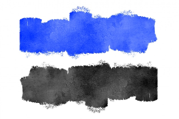 Niebieska i czarna akwarela tekstury