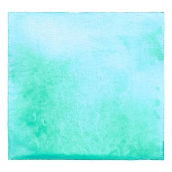 Niebieska i zielona akwarela na białym tle