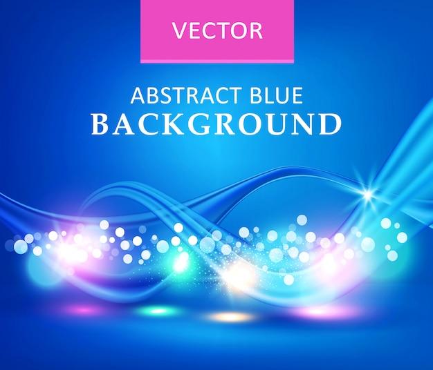 Niebieska ilustracja. wektorowy abstrakcjonistyczny tło z fala.