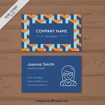 Niebieska karta firma z abstrakcyjnych kształtów
