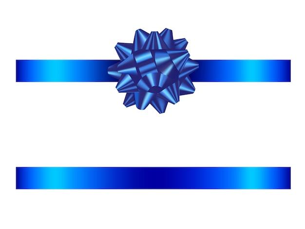 Niebieska kokarda i wstążka
