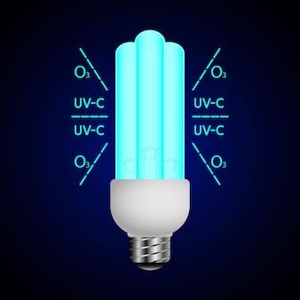 Niebieska lampa świetlna z promieniami ultrafioletowymi światło ultrafioletowe lampa bakteriobójcza sterylizator uvc