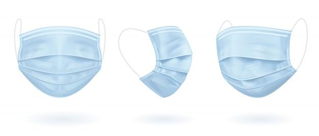 Niebieska maska medyczna