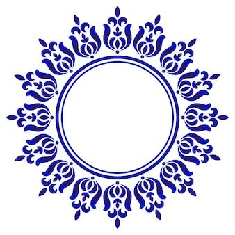 Niebieska okrągła ozdobna