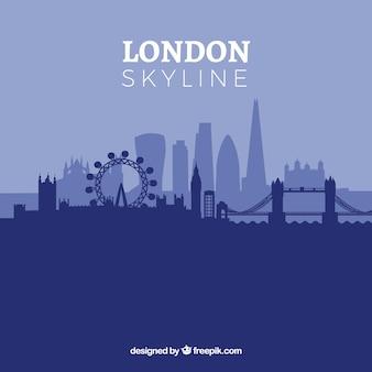 Niebieska panoramę londynu