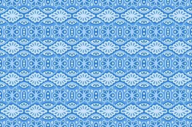 Niebieska sztuka z pięknym liniowym wzorem